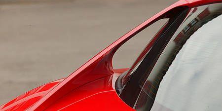 Mode of transport, Automotive design, Automotive exterior, Red, Glass, Vehicle door, Carmine, Hood, Automotive window part, Windshield,