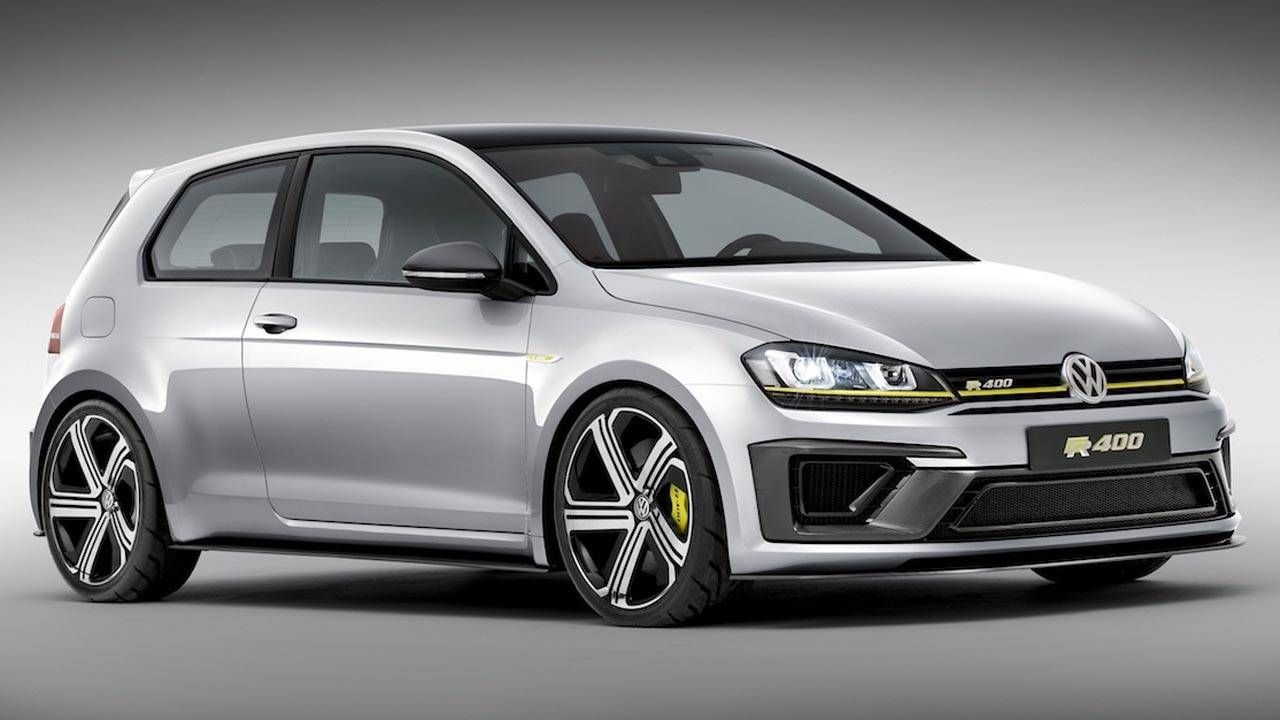 The Golf R400 has 395 hp and will do 0-60 in less than 4 seconds