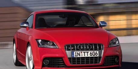 Motor vehicle, Automotive design, Automotive mirror, Vehicle, Hood, Grille, Transport, Car, Performance car, Red,