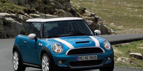 Automotive design, Blue, Vehicle, Infrastructure, Road, Car, Photograph, Vehicle door, Mini cooper, Automotive mirror,