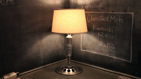 Lampshade, Lighting accessory, Blackboard, Lamp, Tints and shades, Home accessories, Still life photography, Chalk, Handwriting, Metal,