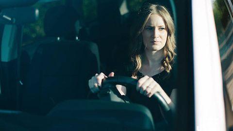 Jewellery, Head restraint, Long hair, Automotive window part, Car seat, Curtain, Portrait,