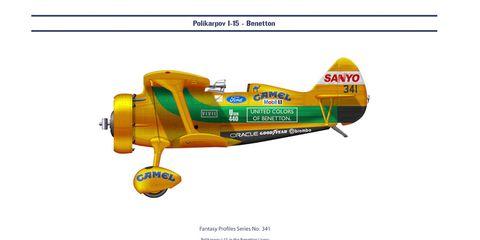retro f1 plane