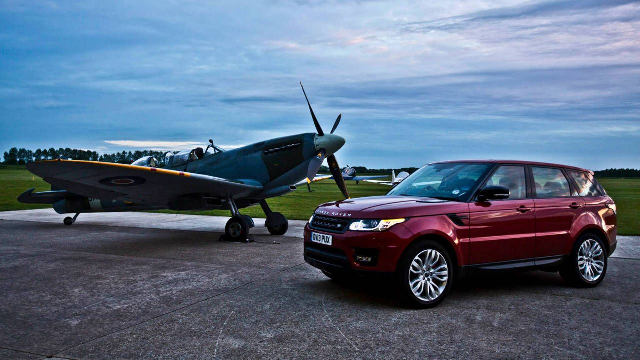 Go behind the scenes as Range Rover races Spitfire
