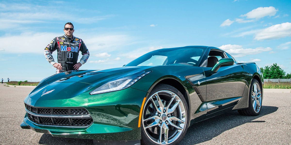Tony Stewart Drives the 2014 Corvette C7 Stingray - 2014 ...