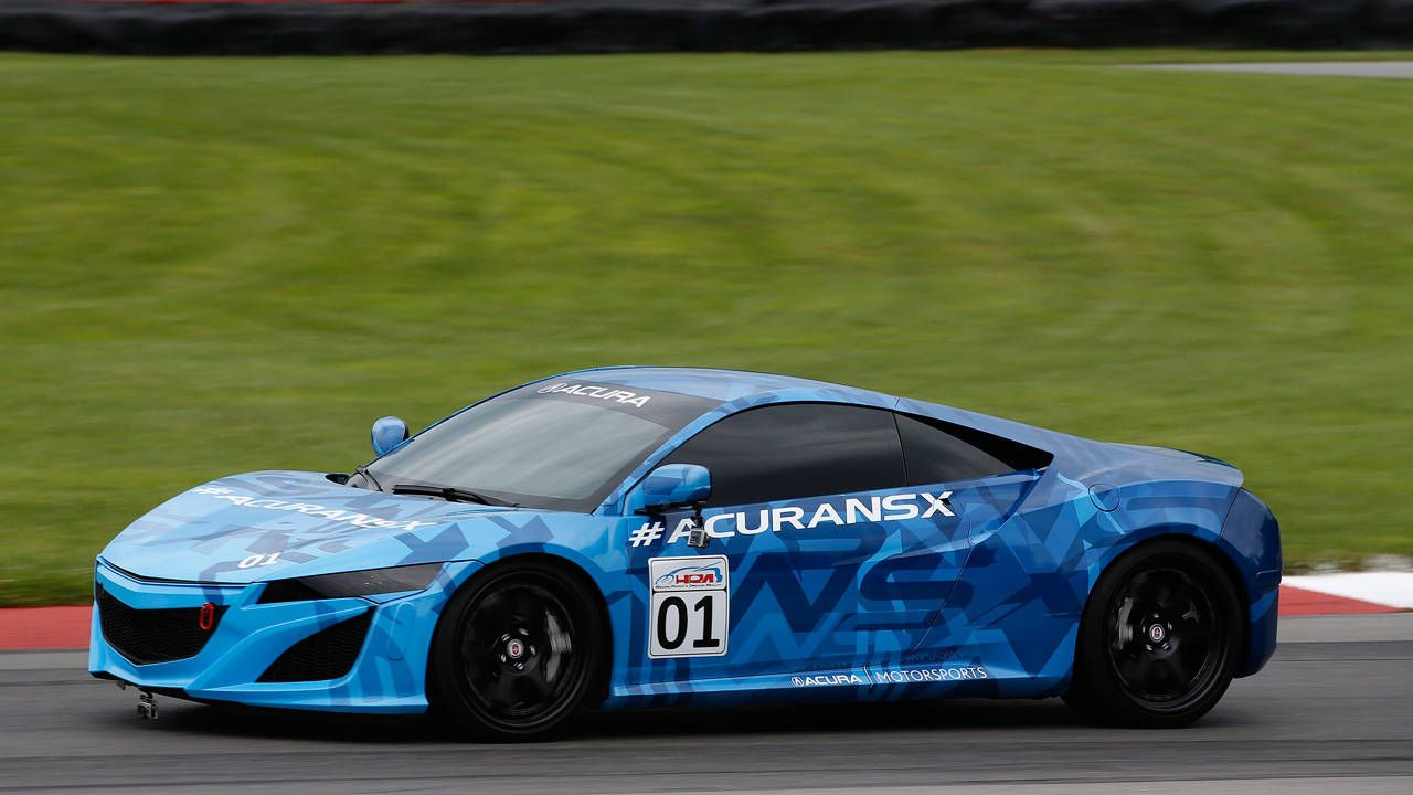 The Acura NSX isn't exactly hiding out at Mid-Ohio