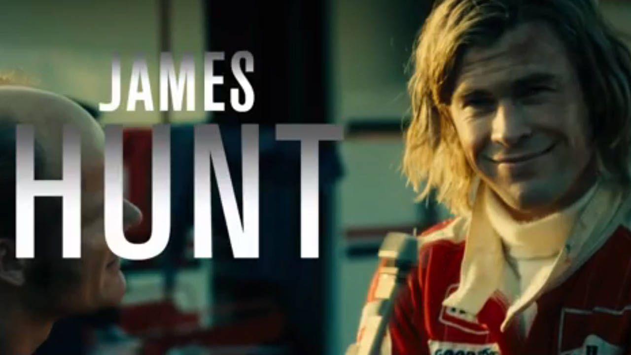 New Rush trailer gets cozy with James Hunt