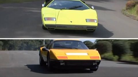 1974 Lamborghini Countach Lp400 Vs 1982 Ferrari 512 Bb Better