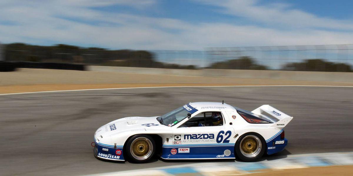 Driving a Mazda IMSA 4 Rotor RX7 - Classic Race Car Drive