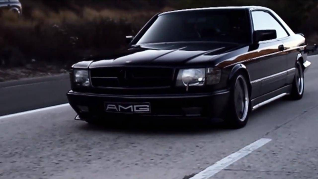 This sinister 1988 Mercedes-Benz 560 SEC AMG is a thing of beauty