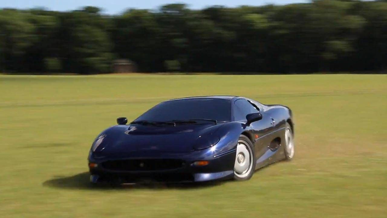 How to mow a lawn with a barking Jaguar XJ220