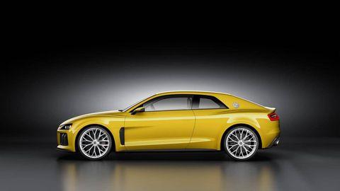 Tire, Wheel, Motor vehicle, Automotive design, Yellow, Vehicle, Rim, Car, Performance car, Automotive mirror,