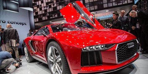 Automotive design, Vehicle, Event, Grille, Car, Concept car, Personal luxury car, Luxury vehicle, Supercar, Exhibition,