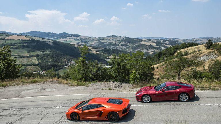 Ferrari F12 vs. Lamborghini Aventador - Comparison Test