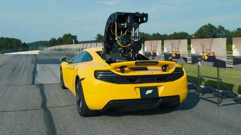 Motor vehicle, Mode of transport, Automotive design, Yellow, Vehicle, Automotive exterior, Vehicle registration plate, Performance car, Supercar, Fender,