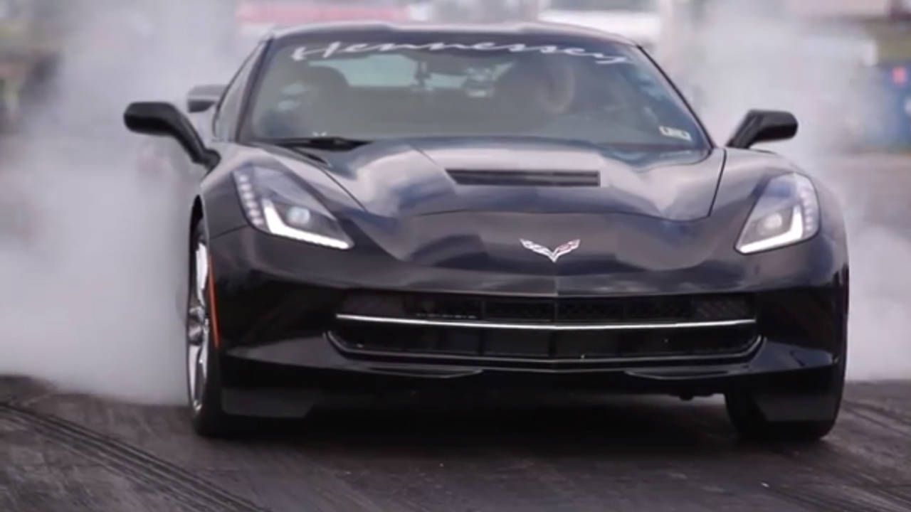 The first customer-owned 2014 C7 Corvette hits the drag strip