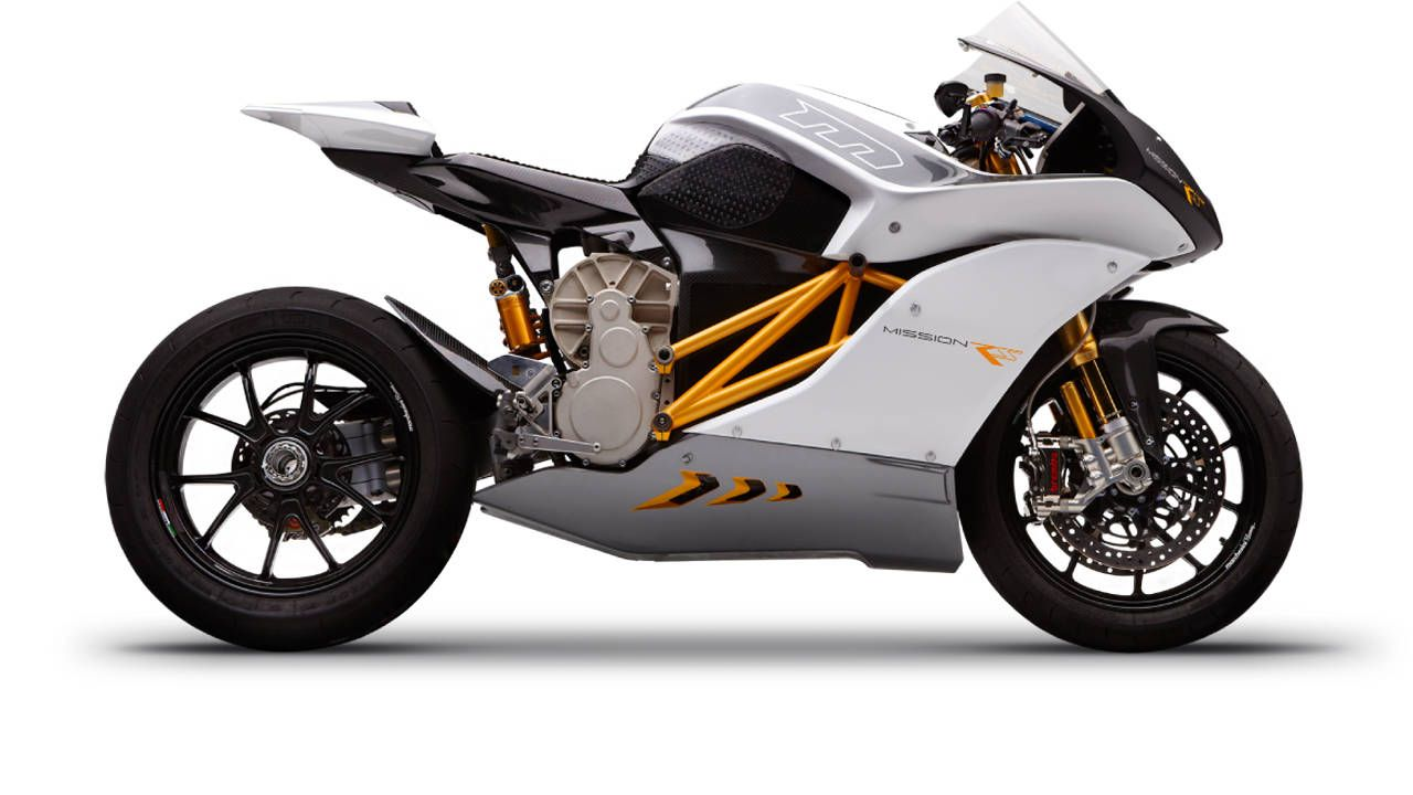 Jay Leno tests out the fully-electric 2014 Mission RS motorcyle
