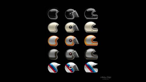 5256a4f84cc ... of Ruby s classic helmets. The designs were created to honor certain  events in BMW s past using the iconic colors and liveries associated with  them.