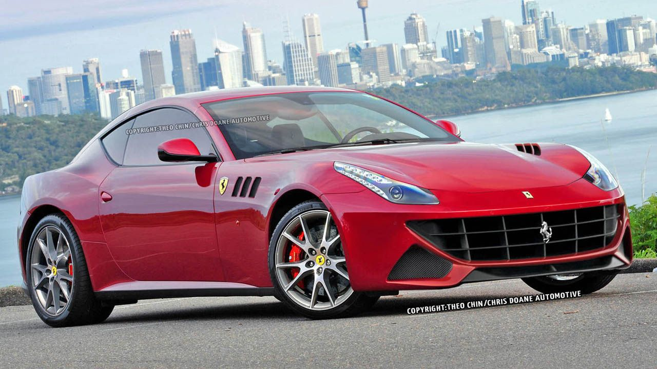 New Ferrari FF coupe renderings, this time in color