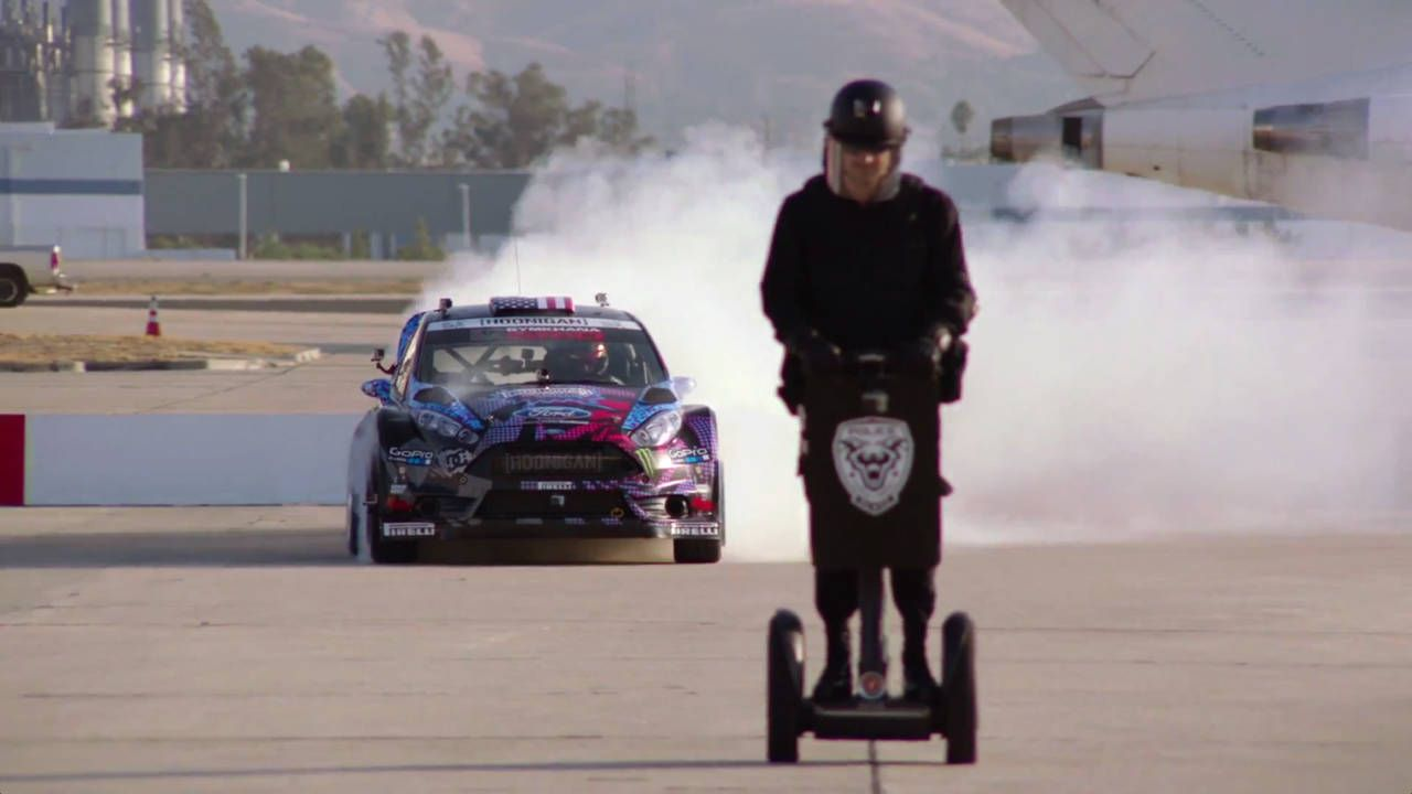 Lamborghinis, Segways, and a rally car: This is Ken Block's Gymkhana Six