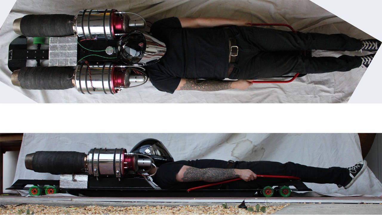 13 questions with a guy building a jet-powered street luge