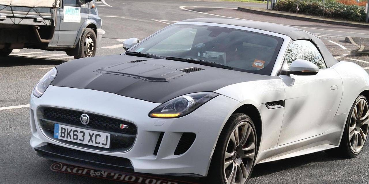 Spy Shots: Turbocharged 4-Cylinder Jaguar F-Type