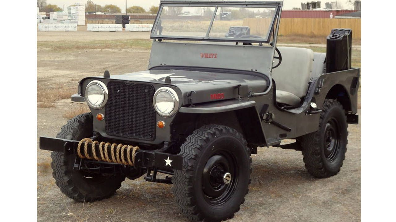 Buy this 1947 Willys CJ-2A and a lamp made from a bomb