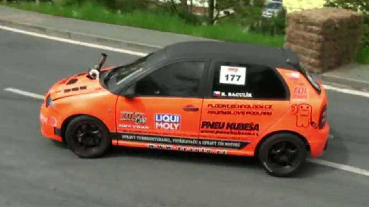 Burning oil with a Skoda Fabia TDI rally car is better than coffee