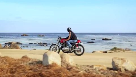 Body of water, Motorcycle, Coastal and oceanic landforms, Coast, Shore, Sand, Landscape, Tourism, Fender, Soil,