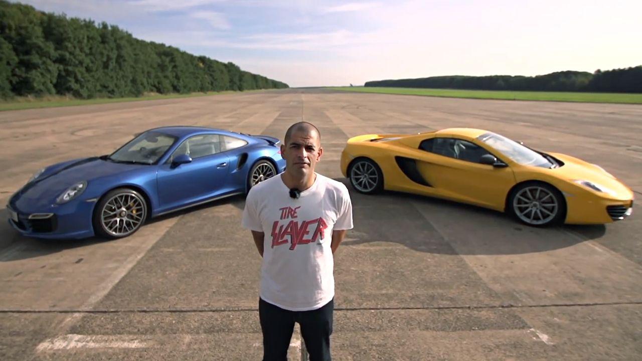 Chris Harris 911 Turbo S vs McLaren 12C Video