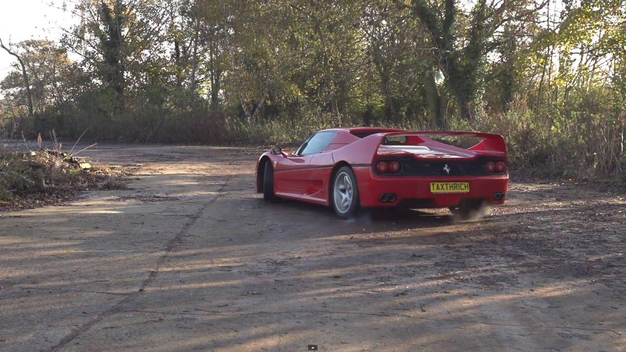 Watch a Ferrari F50 in slow motion