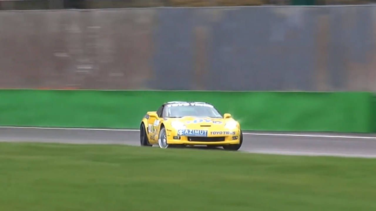 This drifting Corvette ZR1 is better than coffee