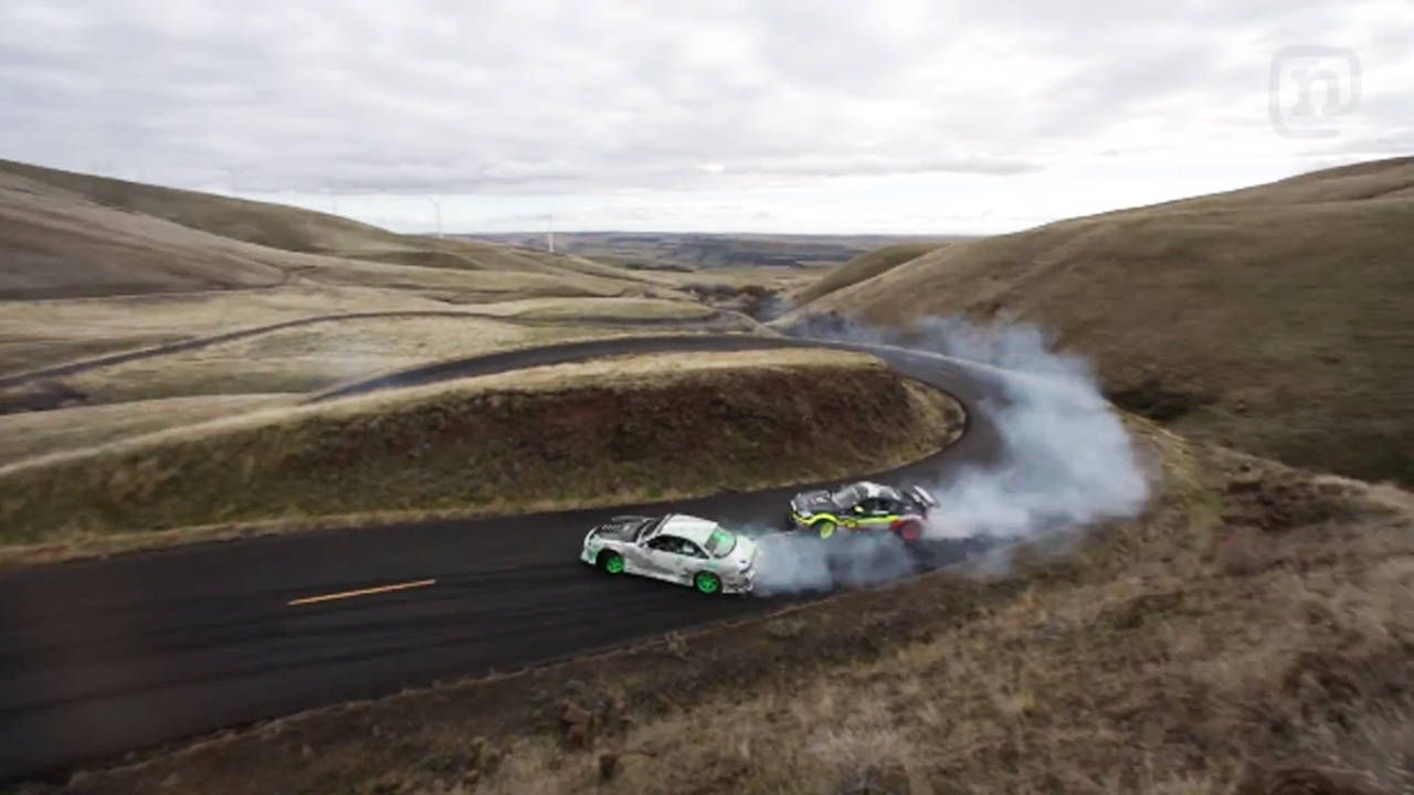 Watch an 830 hp Scion FR-S drift the Oregon Trail