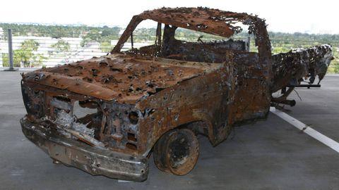 Motor vehicle, Vehicle door, Fender, Rust, Hood, Bumper, Truck, Rim, Auto part, Hardtop,