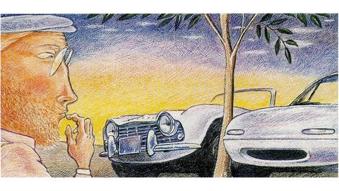 Automotive design, Headlamp, Automotive lighting, Car, Automotive exterior, Hood, Classic car, Automotive parking light, Art, Bumper,