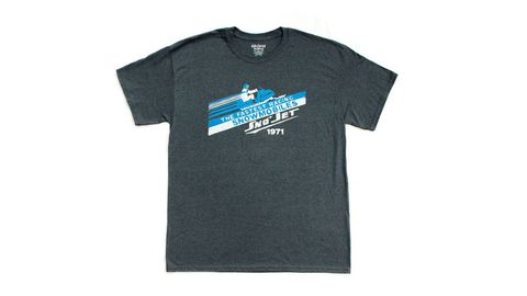 Product, Sleeve, Text, Sportswear, T-shirt, Logo, Font, Aqua, Neck, Azure,