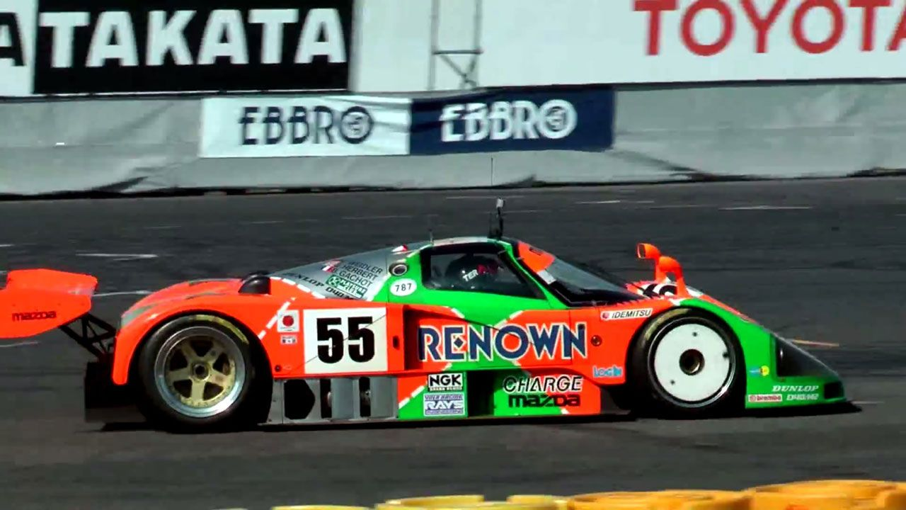 The four-rotor wail of a Mazda 787B is better than coffee