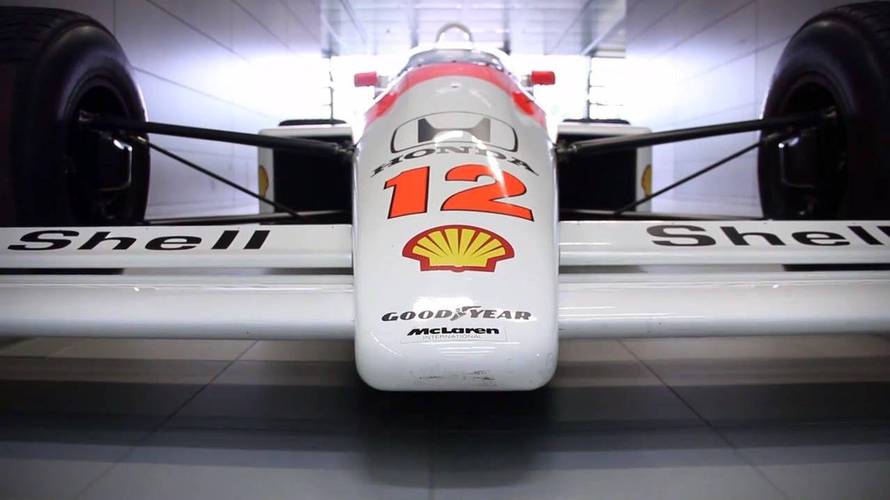Get a closer look at Senna's McLaren MP4/4 F1 car