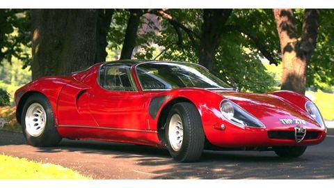 Tire, Mode of transport, Vehicle, Automotive design, Car, Red, Classic car, Sports car, Automotive lighting, Performance car,