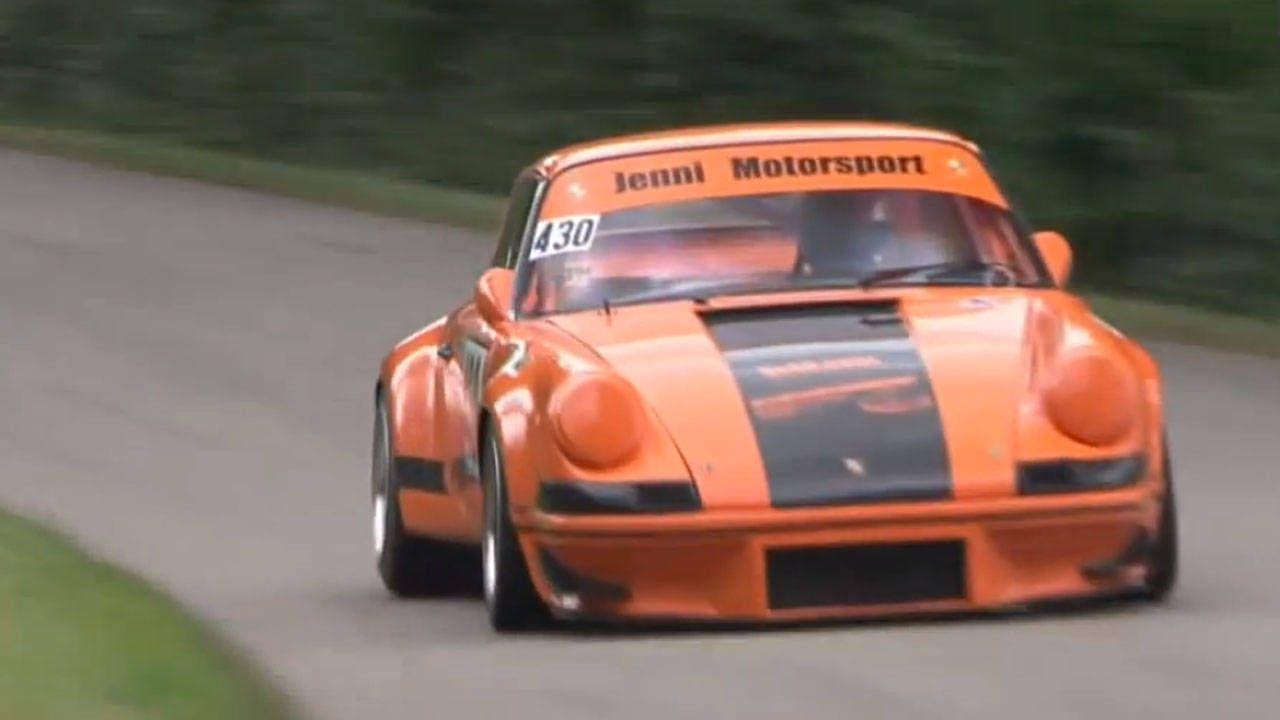 This Porsche 911 Carrera RSR hill climb is better than coffee