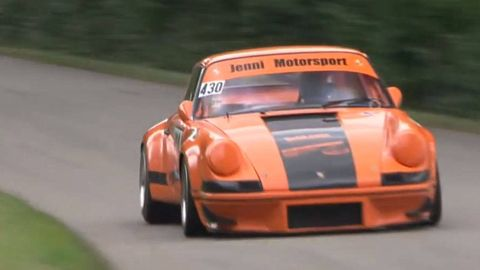 Automotive design, Sports car racing, Vehicle, Land vehicle, Motorsport, Hood, Car, Orange, Performance car, Asphalt,
