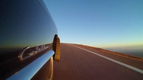 Mode of transport, Road, Atmosphere, Automotive design, Infrastructure, Landscape, Horizon, Automotive exterior, Line, Plain,