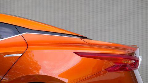 Orange, Automotive lighting, Amber, Hood, Supercar, Sports car, Automotive tail & brake light,