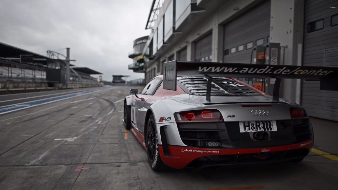 Watch Chris Harris tear around the Nurburgring GP in an Audi R8 GT3