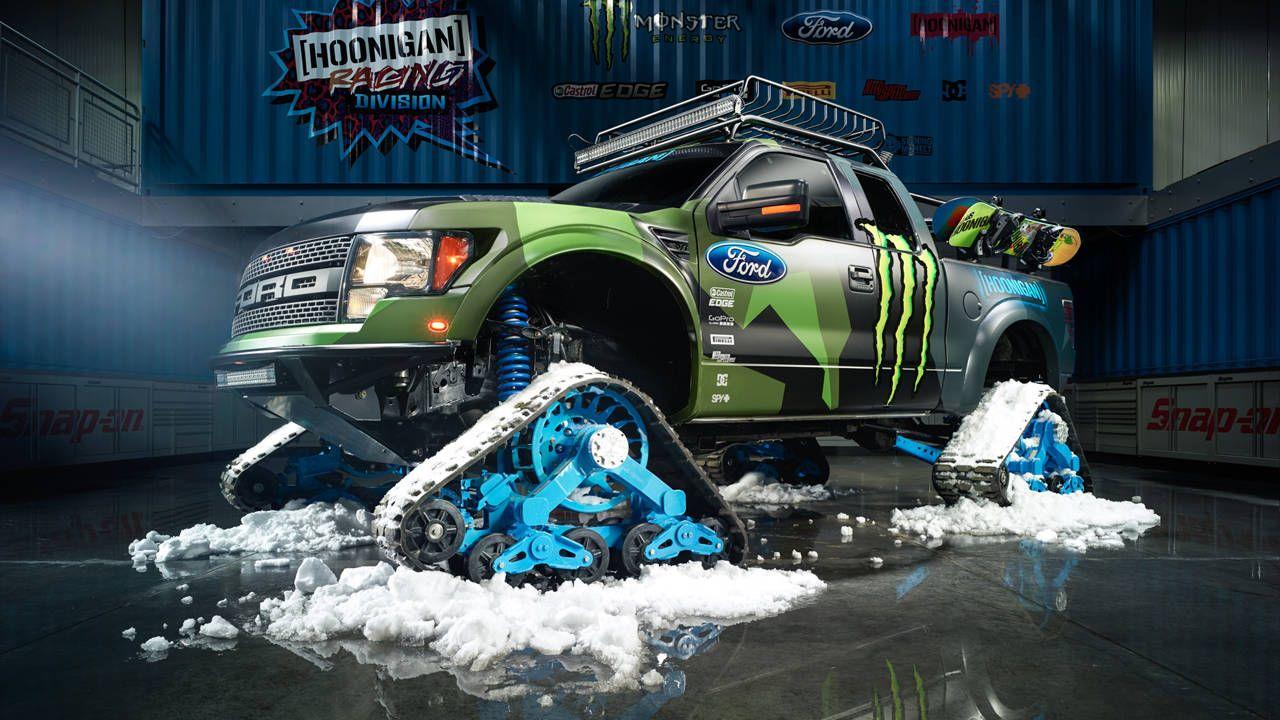 Hoonigan Racing built the ultimate snowmobile: the RaptorTRAX