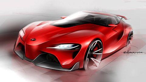 Automotive design, Automotive lighting, Red, Car, Fender, Concept car, Sports car, Carmine, Maroon, Automotive light bulb,