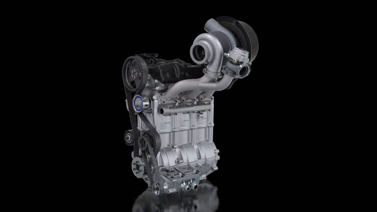 This is the three-cylinder that's powering Nissan's ZEOD RC Le Mans car