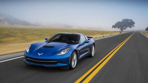Automotive design, Road, Blue, Vehicle, Land vehicle, Infrastructure, Hood, Car, Performance car, Rim,