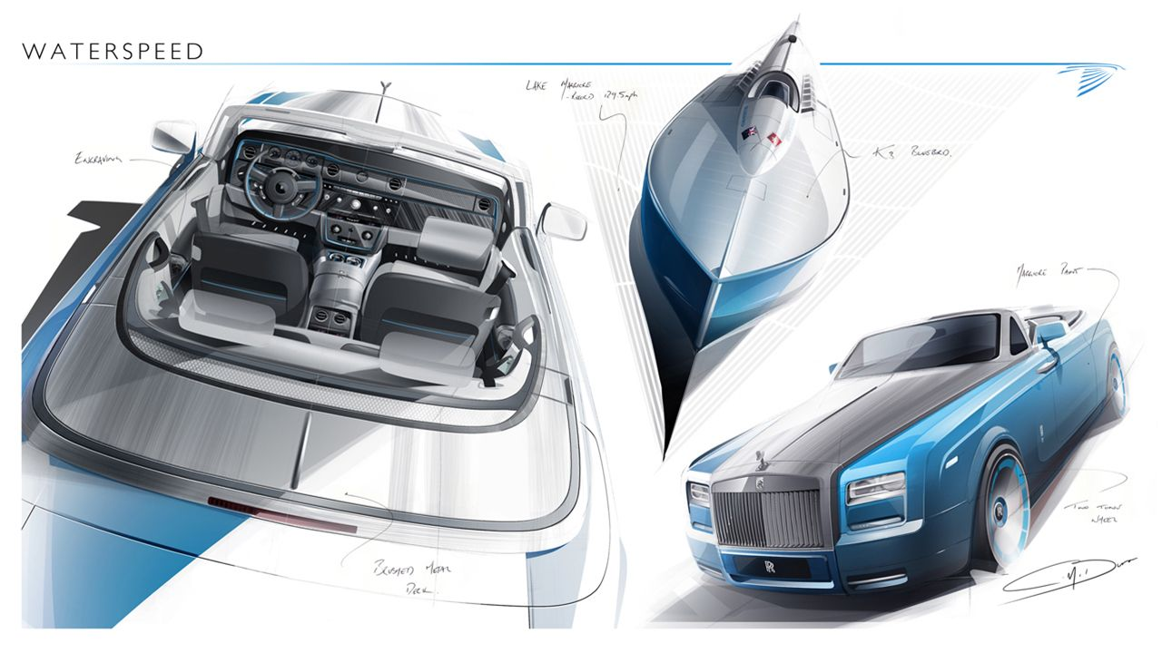 Paris-bound Rolls-Royce Phantom Drophead Waterspeed Collection pays homage to 1937 hydroplane