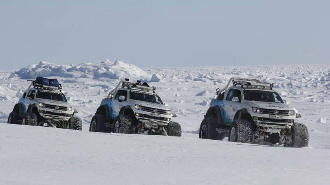 VW Amarok makes a polar expedition for Sochi